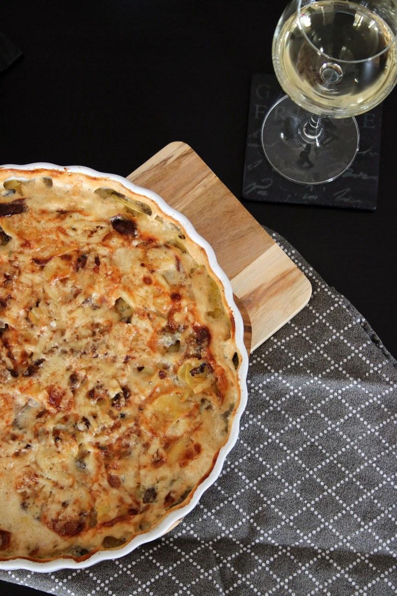 Rezept Kartoffel-Gratin mit Champignons