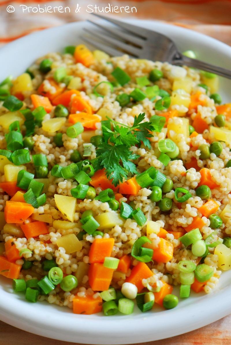 Rezept Kartoffel-Graupen-Risotto mit Möhren & Erbsen