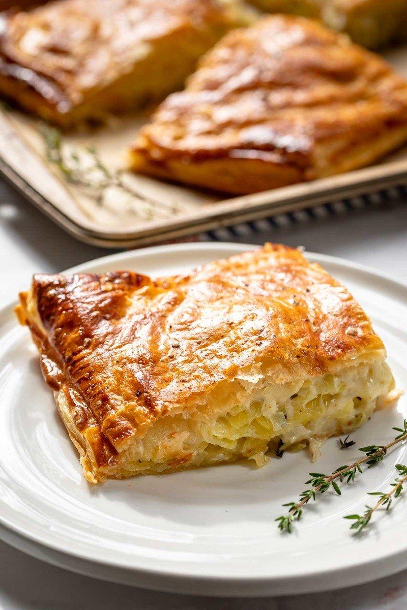 Rezept Kartoffel-Pastete mit Lauch und Gruyere-Käse