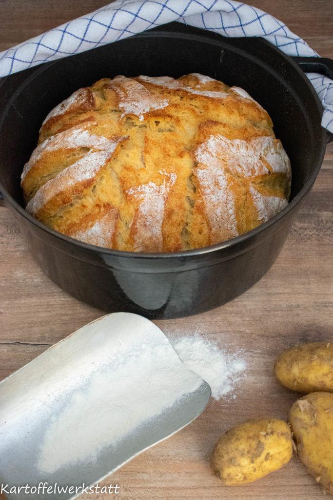Rezept Kartoffelbrot - schnell & einfach im Topf gebacken