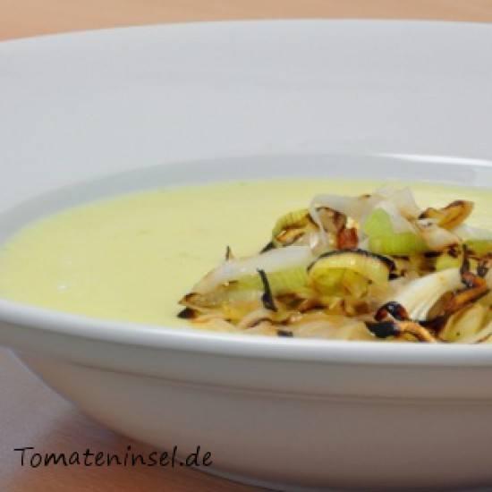 Rezept Kartoffelcremesuppe mit Lauch