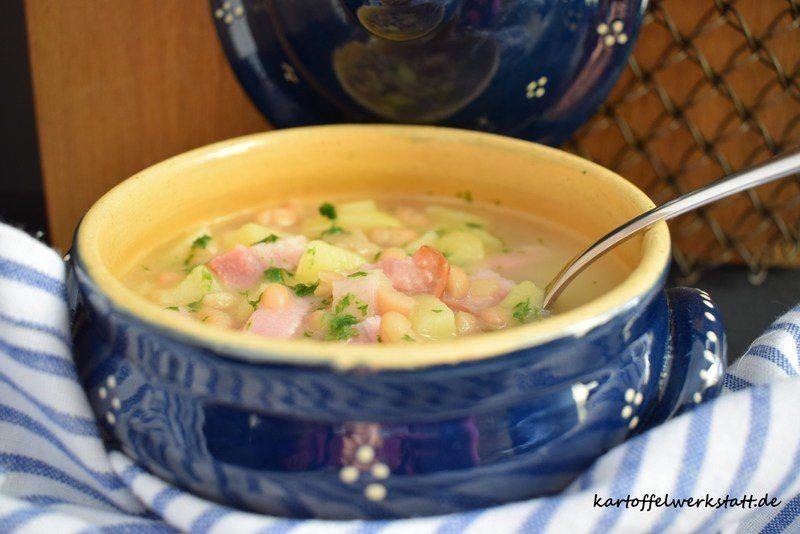 Rezept Kartoffeleintopf mit weißen Bohnen & Bauchspeck