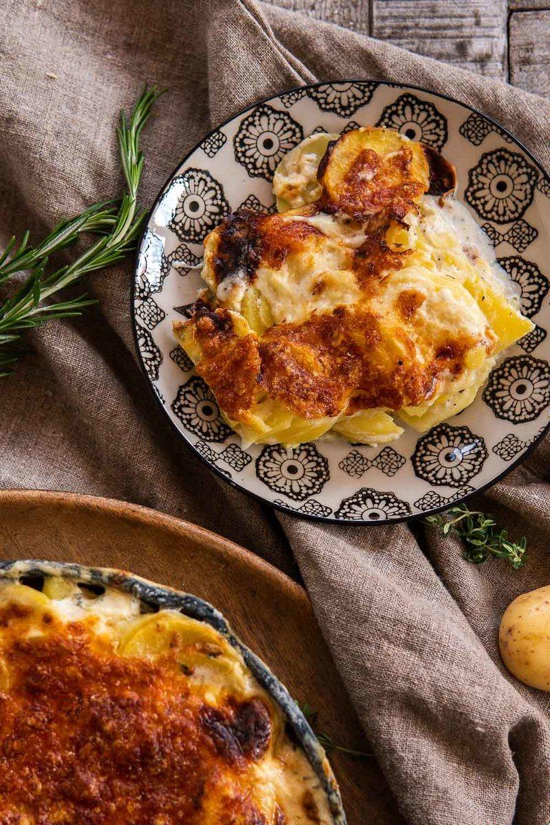 Rezept Kartoffelgratin mit Käse – einfach cremig
