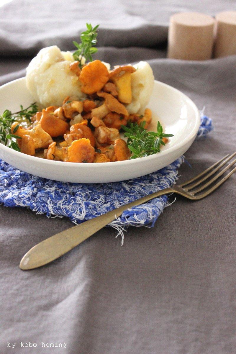 Rezept Kartoffelknödel mit Pfifferlingen