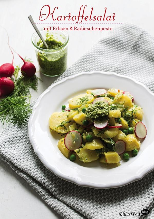 Rezept Kartoffelsalat mit Erbsen & Radieschenpesto