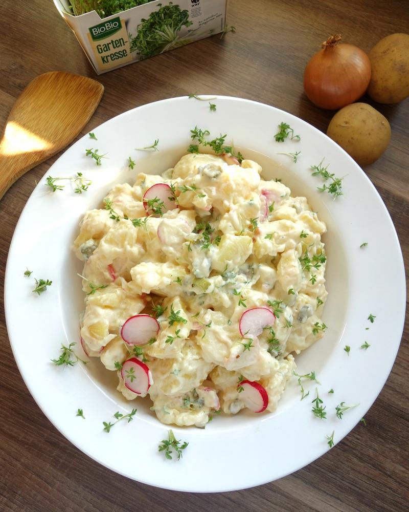 Rezept Kartoffelsalat mit Kresse, Radieschen und Mayonnaise