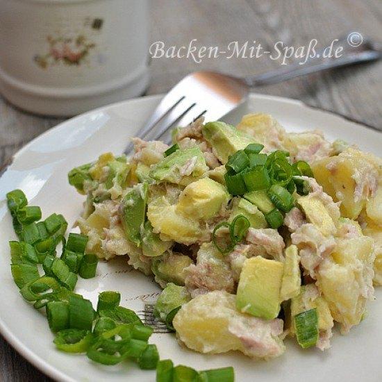Rezept Kartoffelsalat mit Thunfisch und Avocado