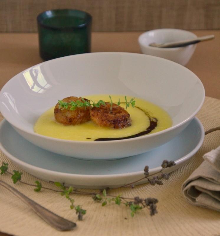 Rezept Kartoffelsuppe mit Jakobsmuscheln