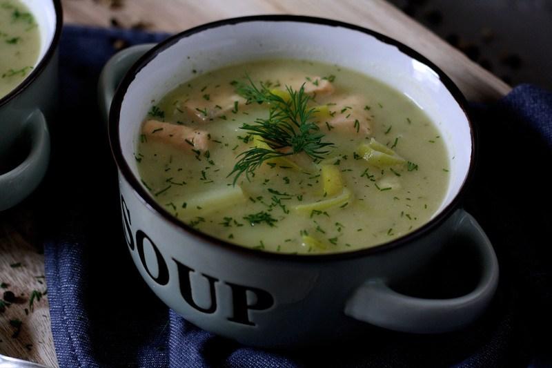 Rezept Kartoffelsuppe mit Lachs & Dill