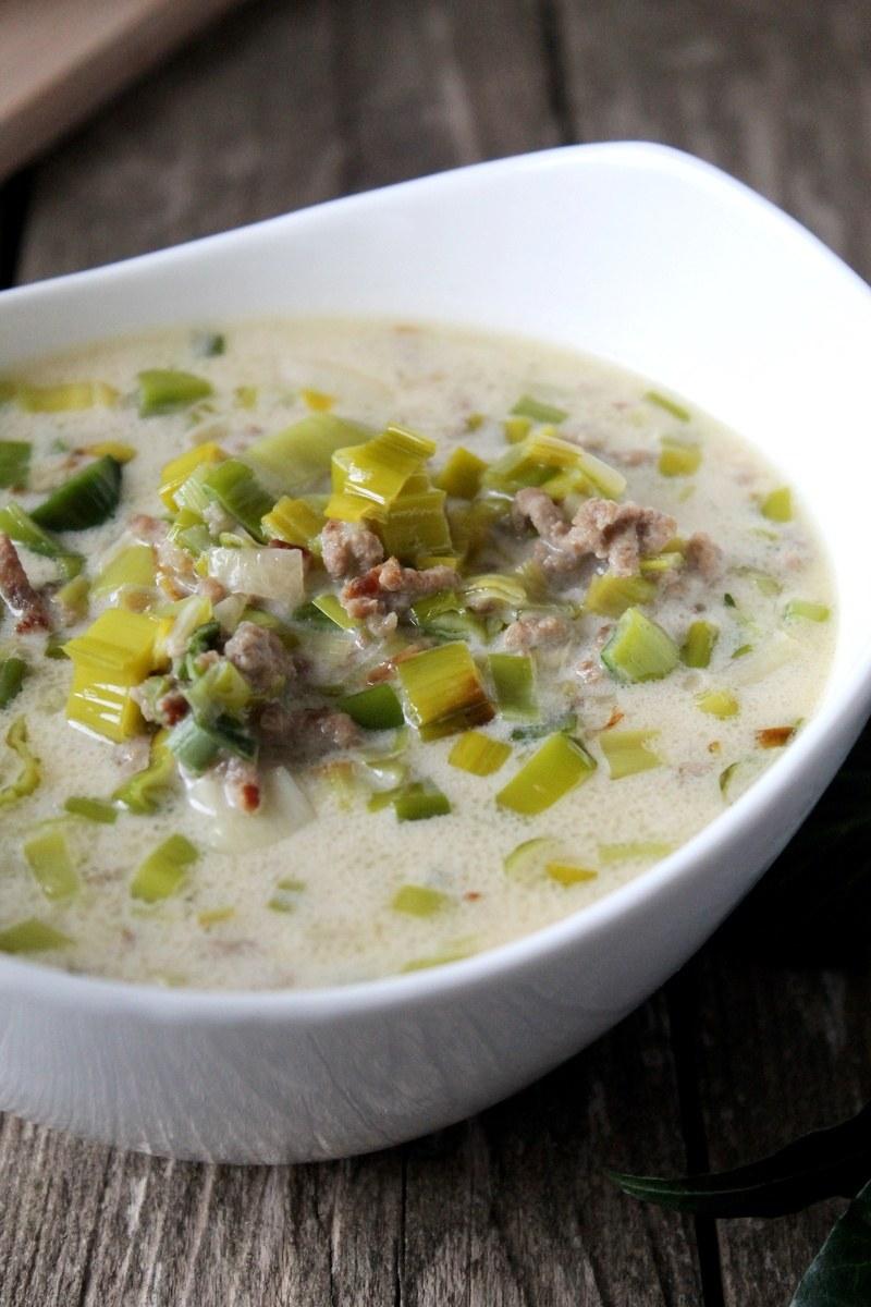Rezept Käse-Lauch-Suppe mit Hack