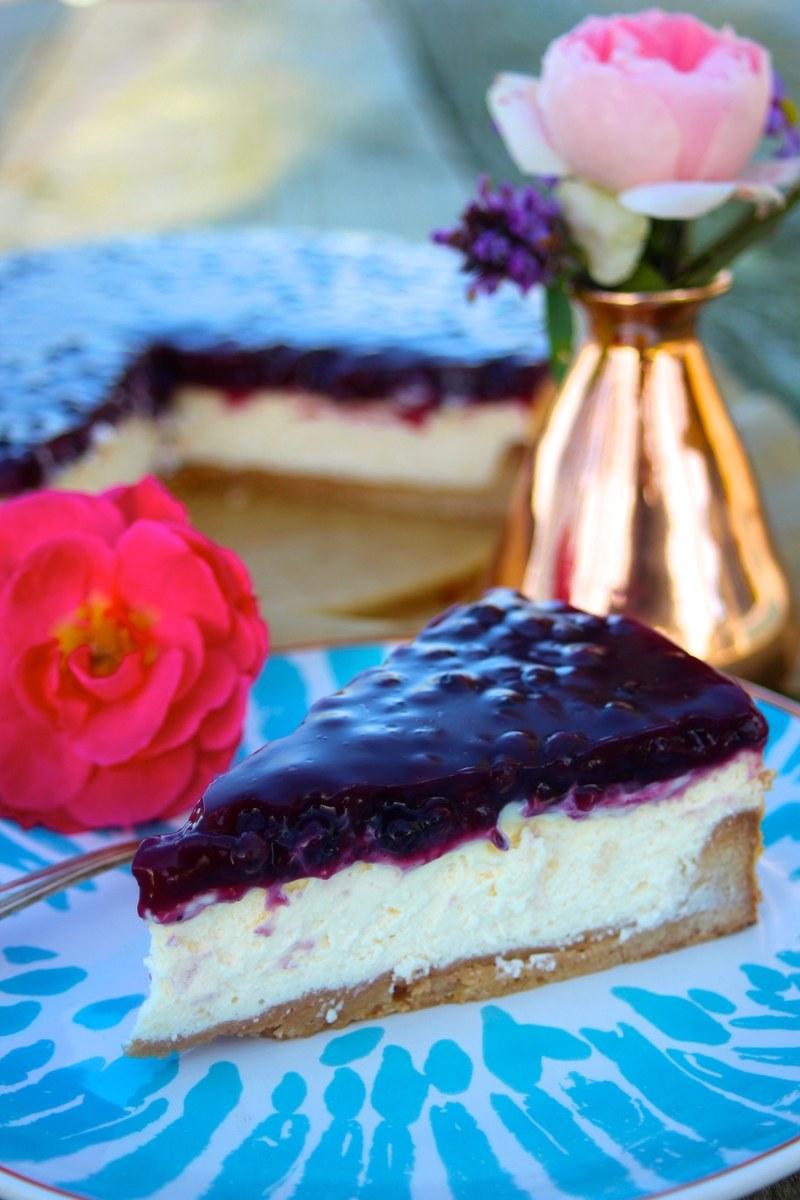 Rezept Käse-Tarte mit weißer Schokolade und Blaubeeren