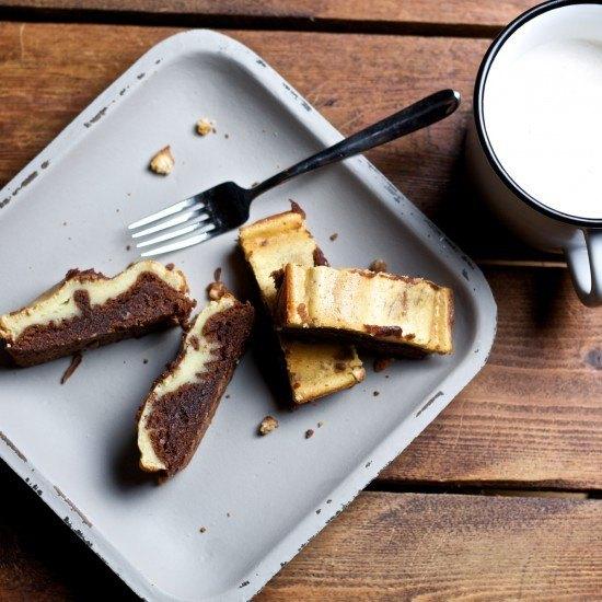 Rezept Käsekuchen-Brownies