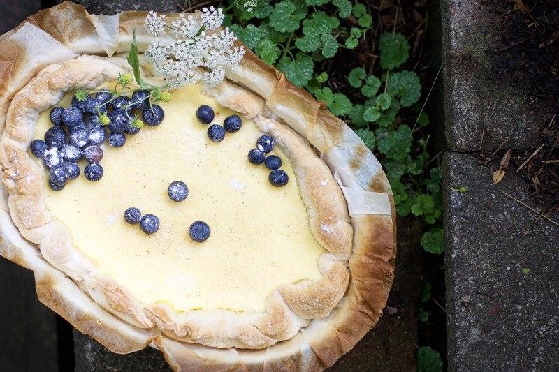 Rezept Käsekuchen mit Blätterteig und Quark