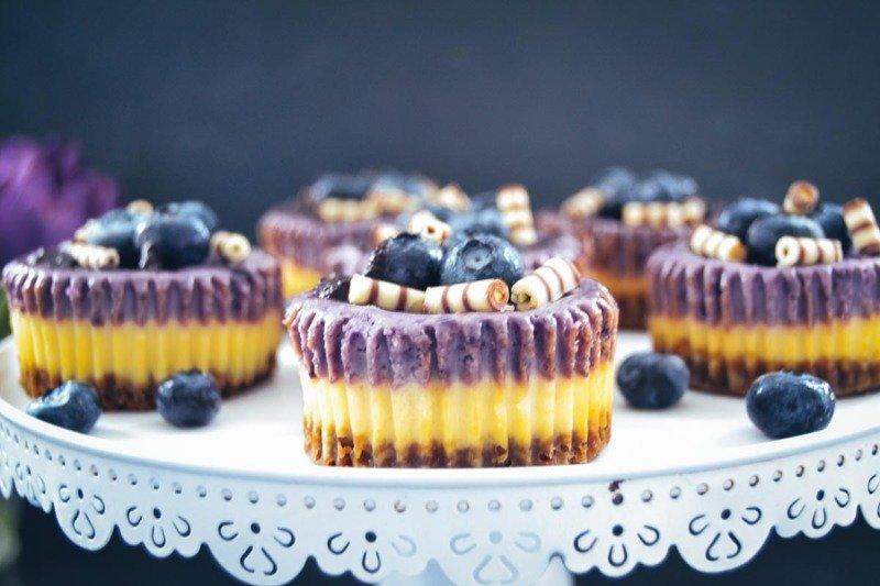 Rezept Käsekuchen Muffins mit Blaubeeren