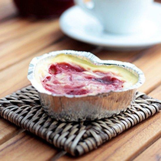 Rezept Käsekuchenherzen mit Marmelade