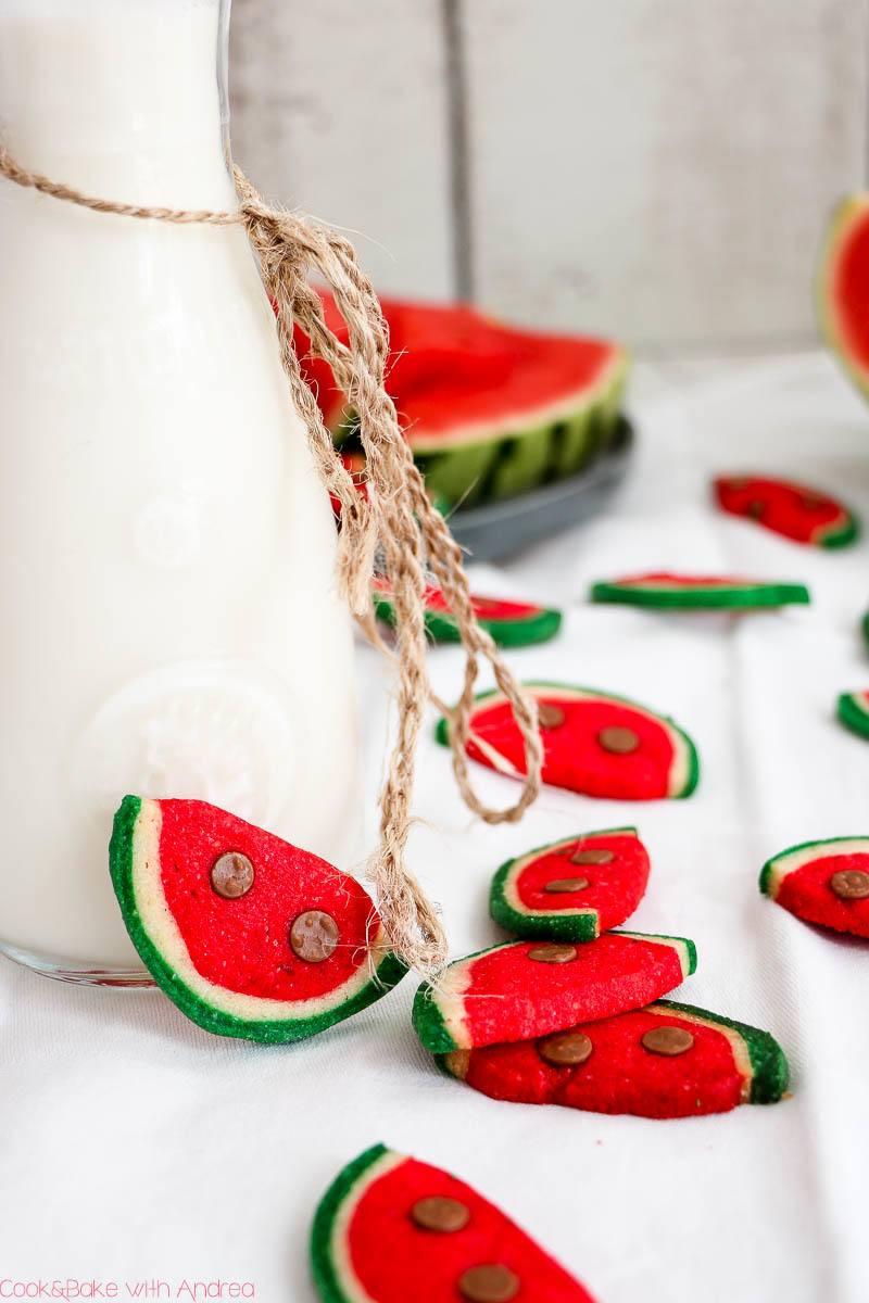 Rezept Kekse in Wassermelonen-Optik