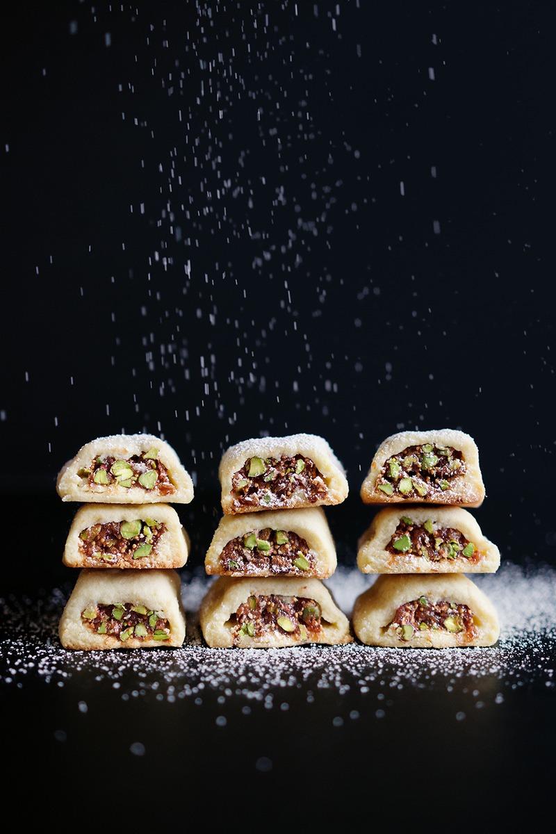 Rezept Kekse mit einer Füllung aus Feigen und Pistazien - Sablés aux figues