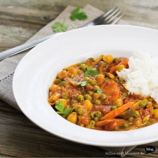 Rezept Kichererbsen-Gemüse-Curry, vegan