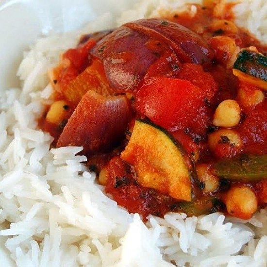 Rezept Kichererbsen-Gemüse-Pfanne
