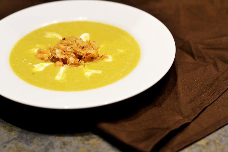 Rezept Kichererbsensuppe mit gebratenem Sauerkraut