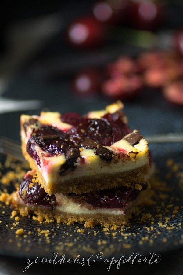 Rezept Kirsch-Cheesecake mit Schokostücken