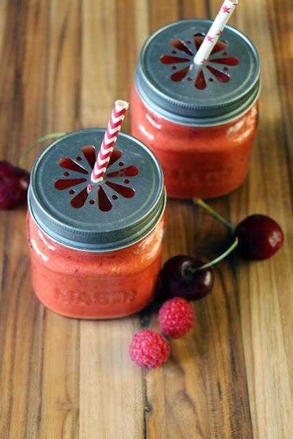 Rezept Kirsch Himbeer Smoothie