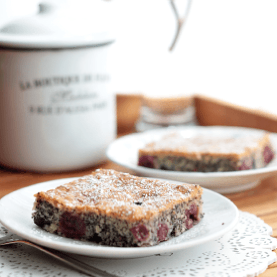 Rezept Kirsch-Mohnkuchen