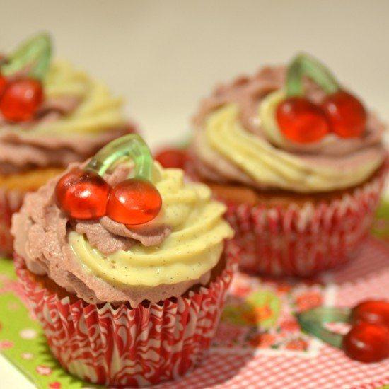 Rezept Kirsch-Vanille-Cupcakes