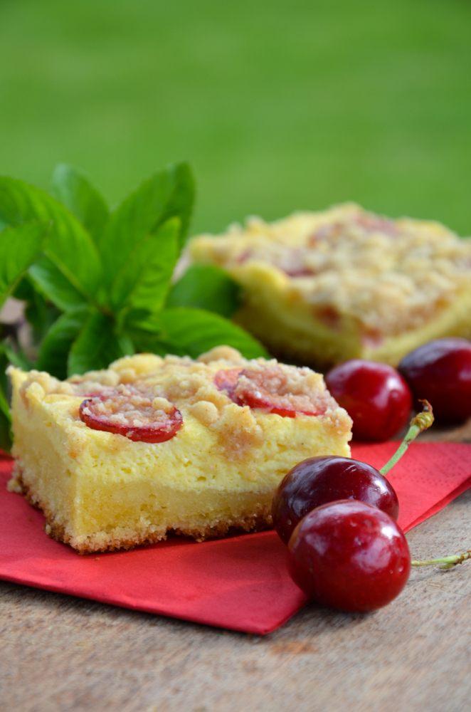 Rezept Kirschen-Topfen-Streuselkuchen