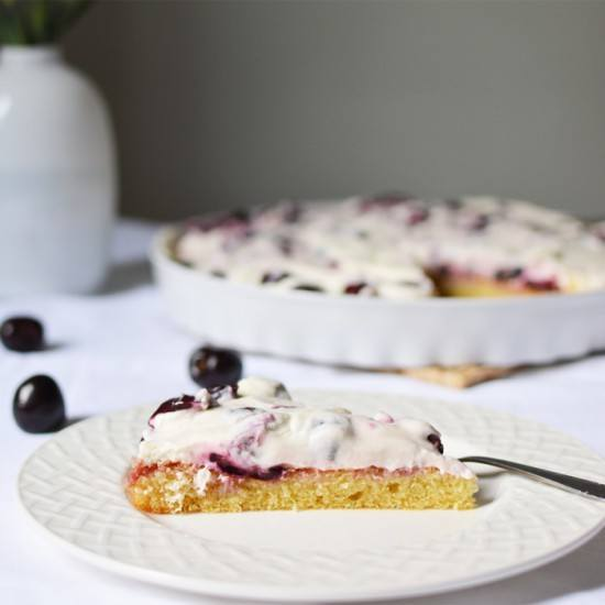 Rezept Kirschkuchen mit Topfencreme