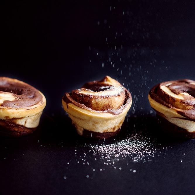 Rezept Kleine Brioches mit Schokoladenfüllung