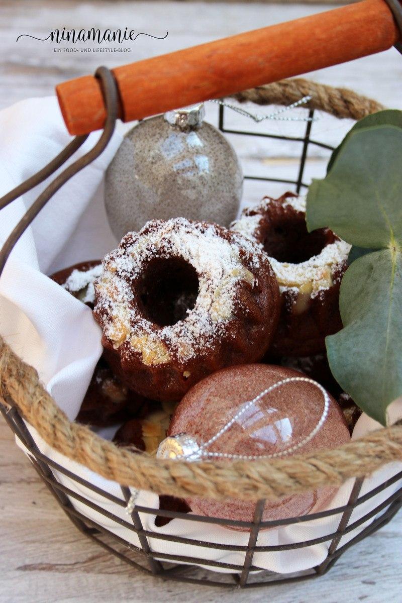 Rezept Kleine Gugl-Leckerei - Mini-Apfel-Mandel-Schoko-Gugl
