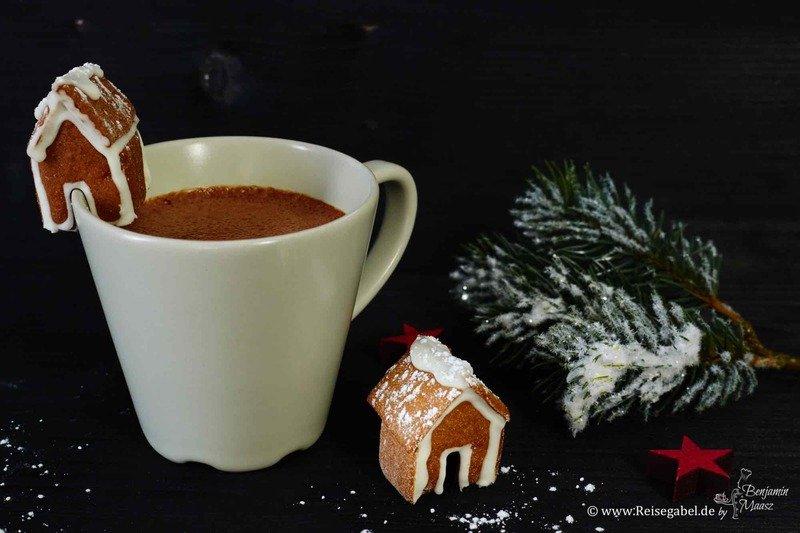 Rezept Kleine Lebkuchenhäuschen für den Tassenrand