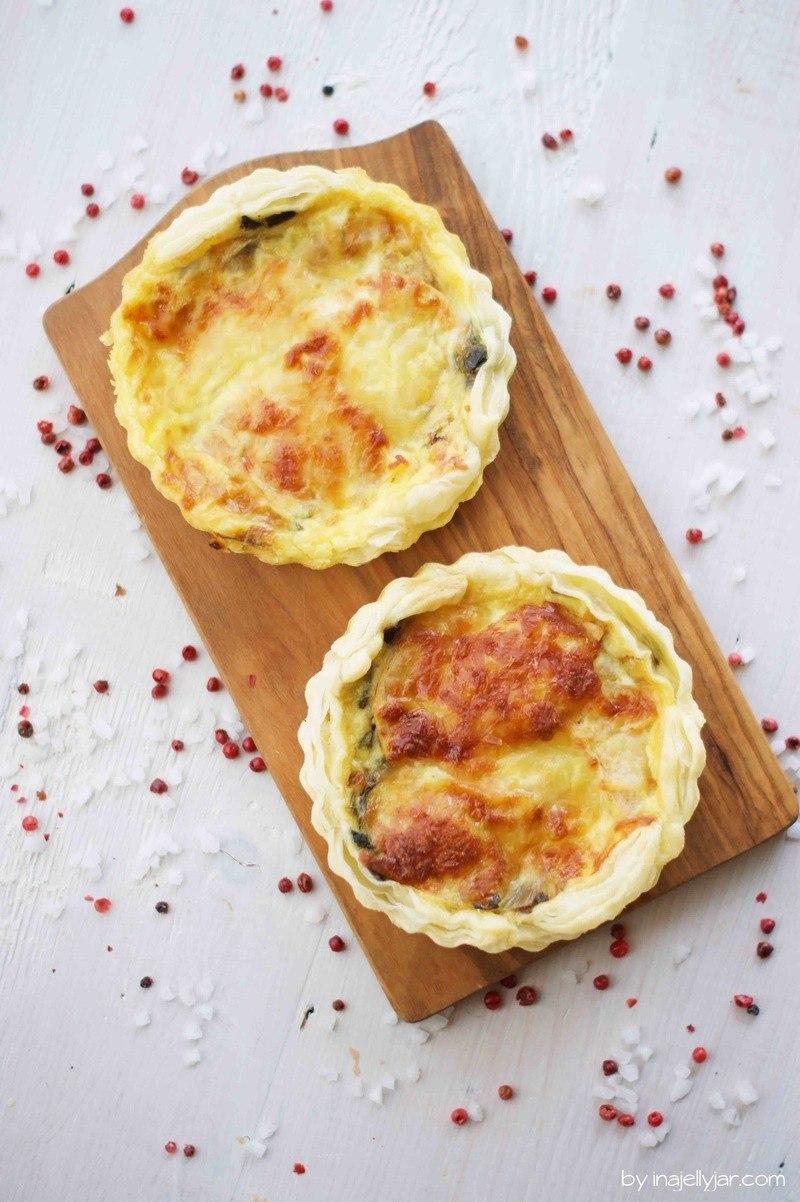 Rezept Kleine Mangold-Quiches mit Käse und Apfel