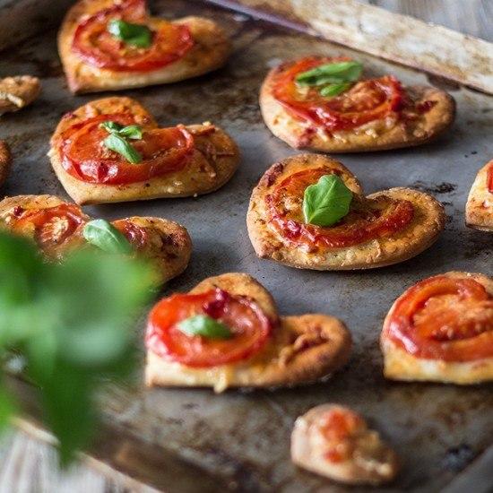Rezept Kleine Pizzaherzen