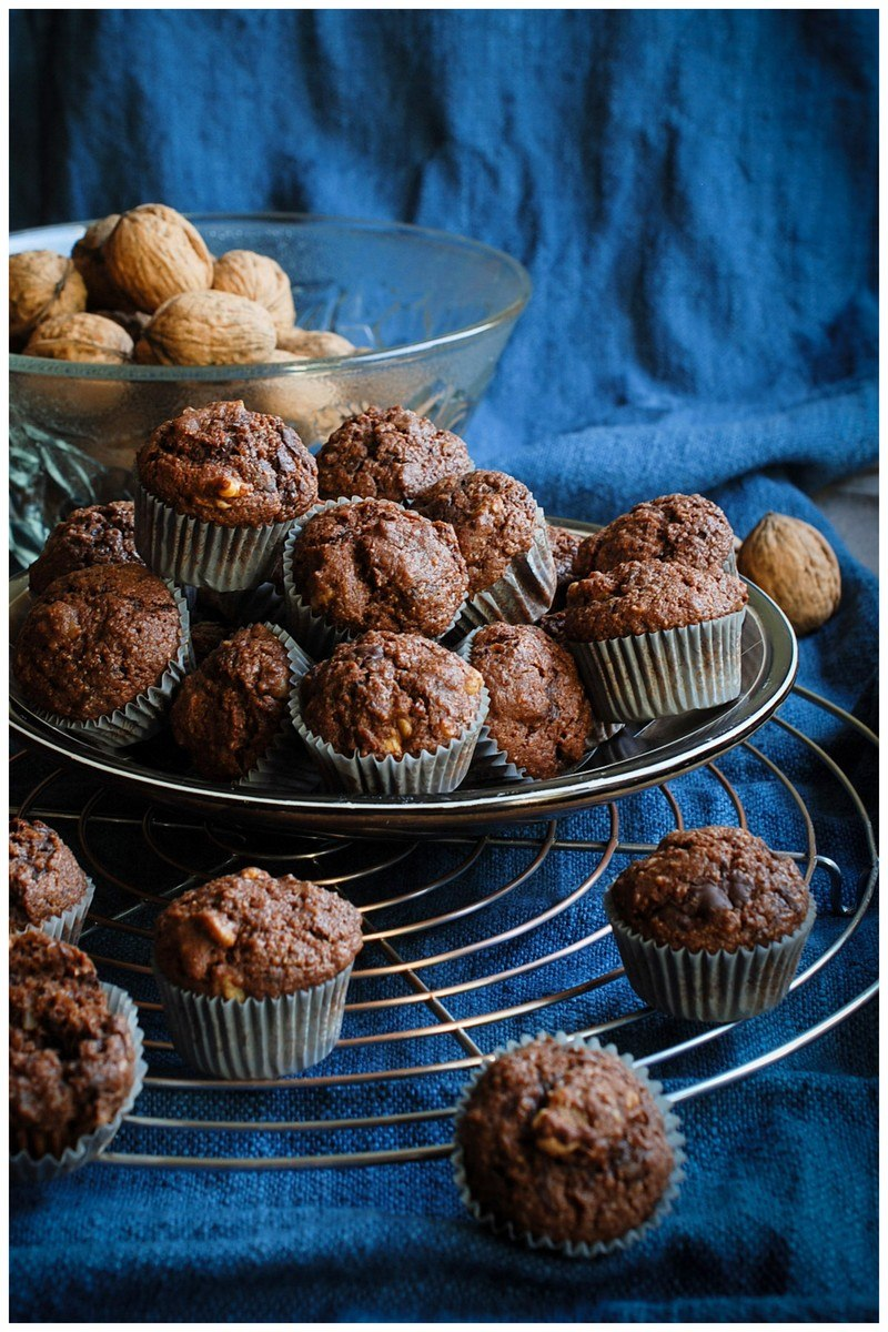 Rezept Kleine Walnuss-Schoko-Muffins
