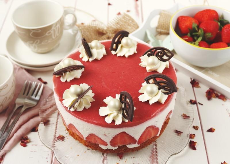 Rezept Kleines Käse-Sahne-Törtchen mit Erdbeeren