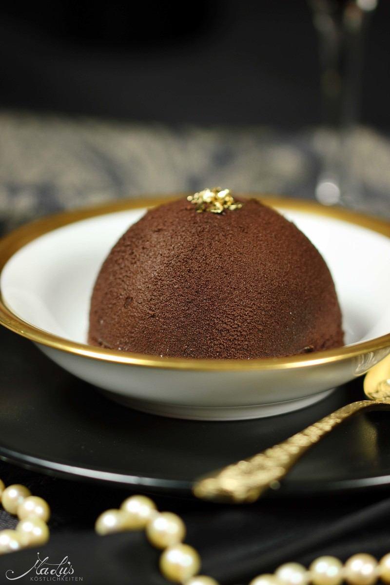 Rezept Knackige Schokoladenkuppeln mit Baileysherz