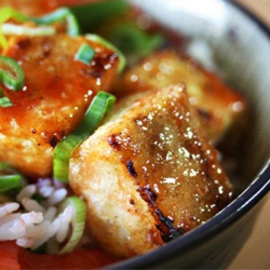 Rezept Knusper-Tofu in Teriyakiglasur