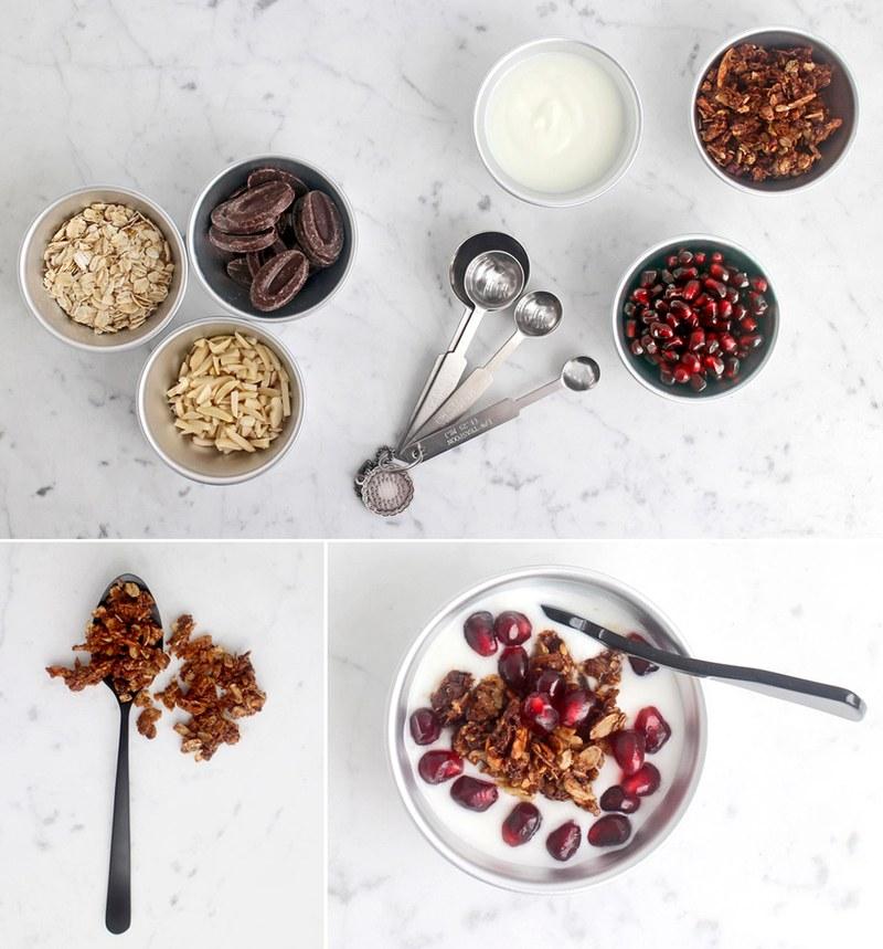 Rezept Knuspergranola: Schoko, Macadamia & Mandel