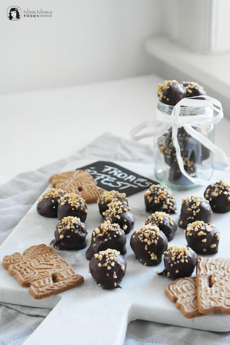 Rezept Knusprige Krokant-Spekulatius-Schokoladen-Pralinen
