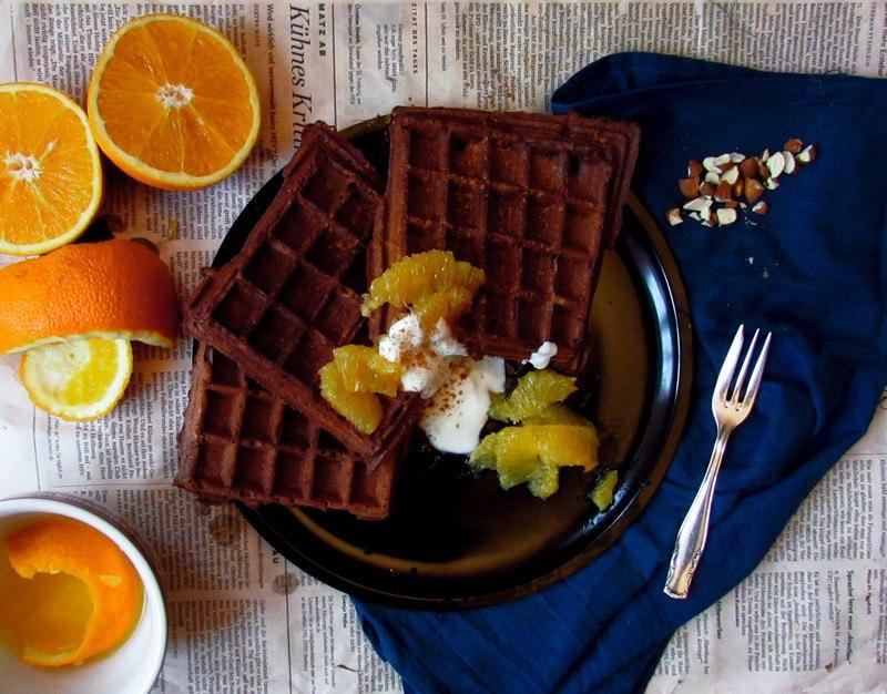 Rezept Knusprige Schoko-Orangenwaffeln (die perfekten!)