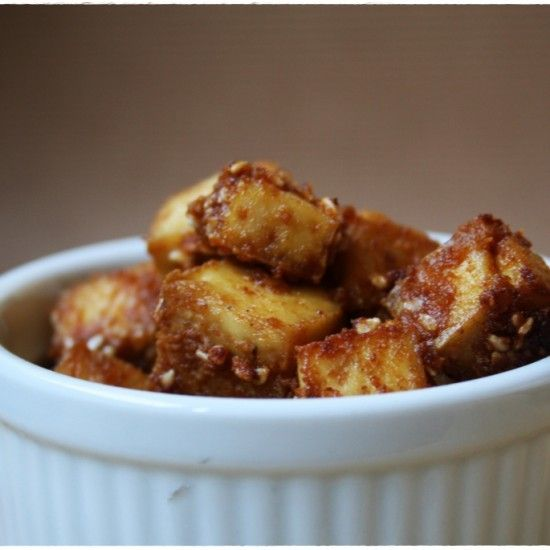 Rezept Knusprige Sesam-Tofu Würfel