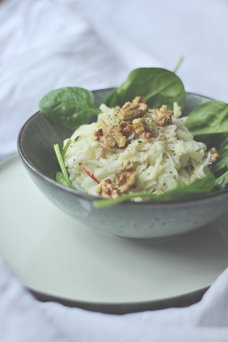 Rezept Kohlrabi-Salat im Waldorf-Style