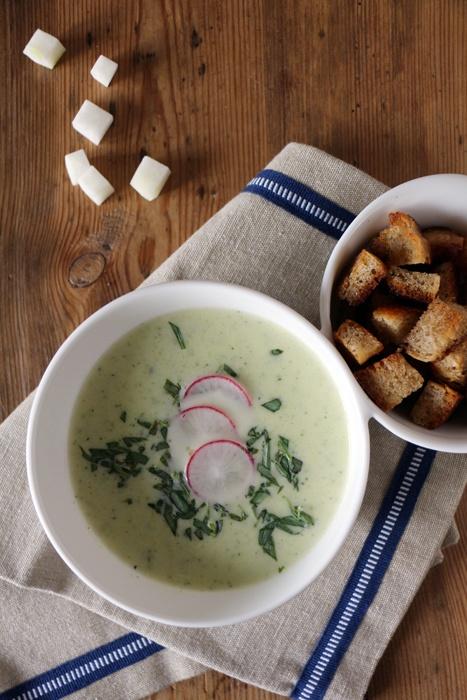 Rezept Kohlrabi-Zucchini-Suppe
