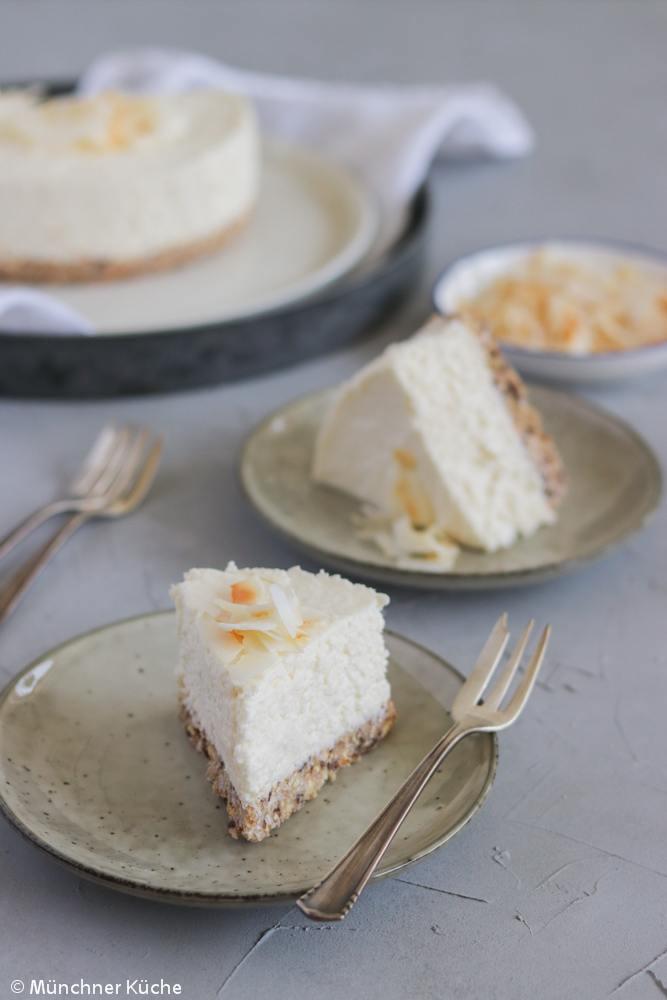 Rezept Kokos Cheesecake aus dem Kühlschrank