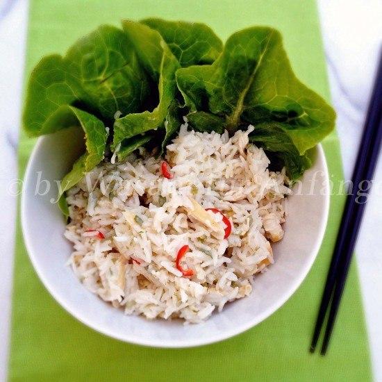 Rezept Kokos-Huhn-Reis mit Limettendressing