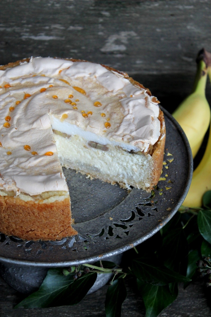 Rezept Kokos-Käsekuchen mit Banane