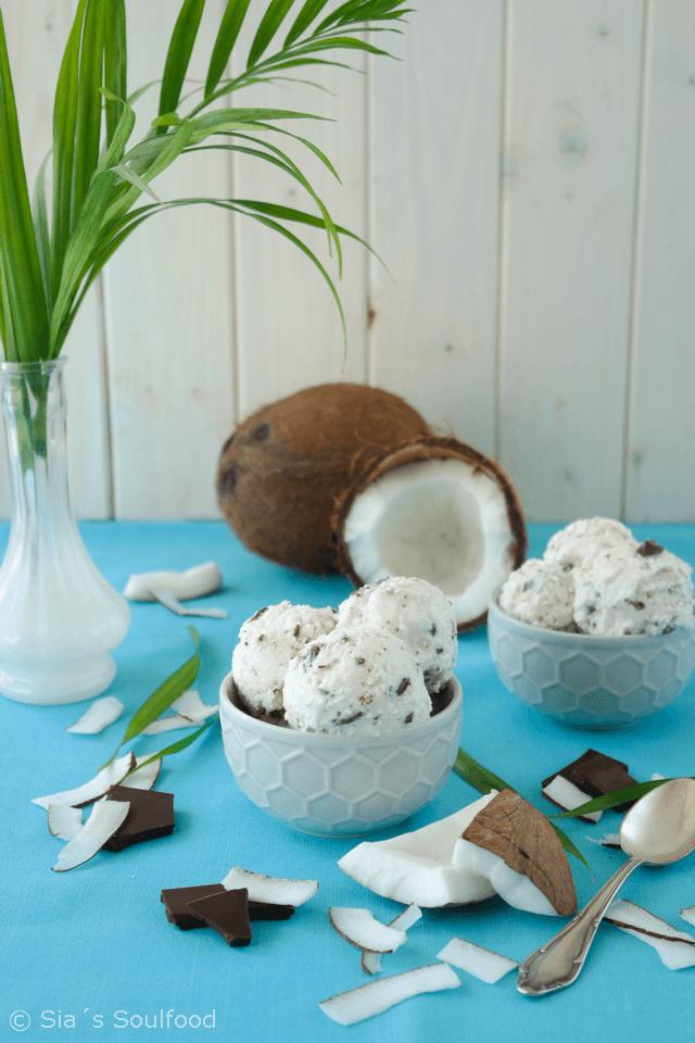 Rezept Kokos-Schokoladen-Eis