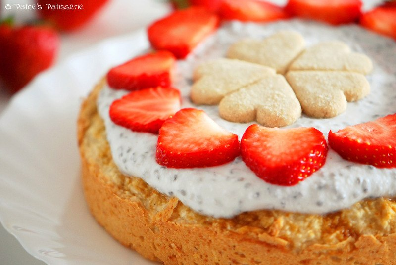Rezept  Kokoskuchen mit Joghurt-Chia-Topping